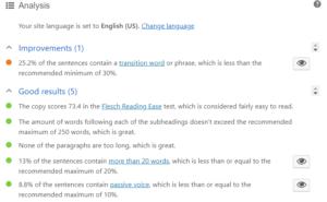 blog post readability analysis